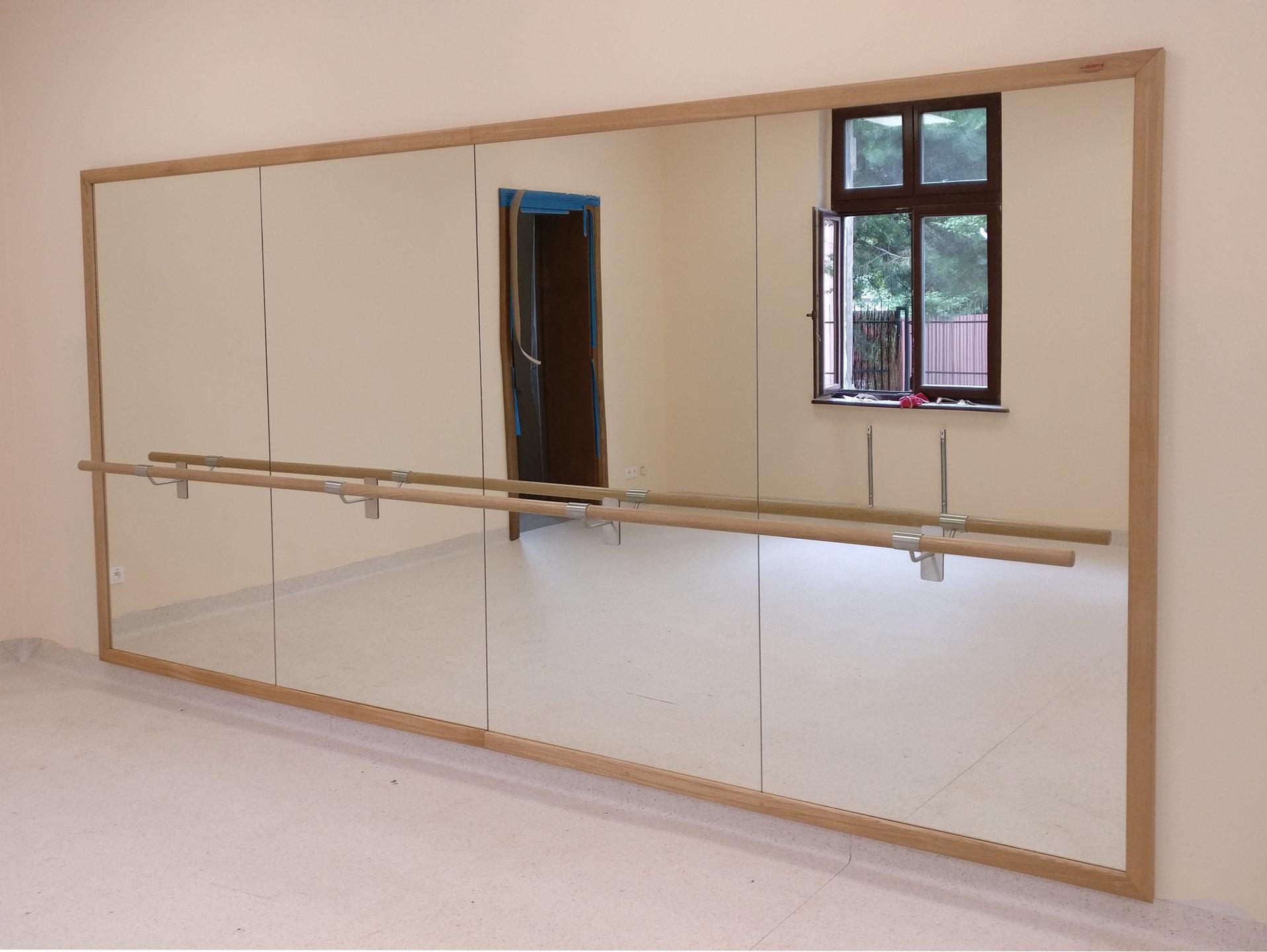 Dance Studio Mirrors With Barres Ballet Barres Com