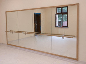 Dance Studio Mirrors with Barres